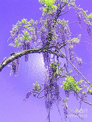 Art Print featuring the photograph Purple Passion Wisteria by Holly Martinson