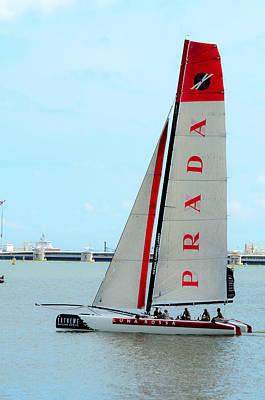 Photograph - Racing Sailboat by Chua  ChinLeng