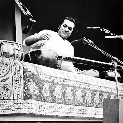 Ravi Photograph - Ravi Shankar, Musician, Composer by Everett