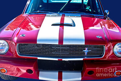 Photograph - Red 1966 Ford Mustang Shelby by James BO  Insogna