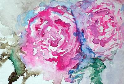 Red Roses Art Print by Raymond Doward