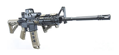 Self Shot Photograph - Rock River Arms Ar-15 Rifle Equipped by Terry Moore