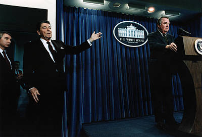 Great Seal Of The United States Photograph - Ronald Reagan. President Reagan by Everett