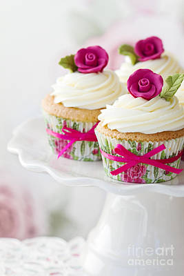 Rose Cupcakes Art Print by Ruth Black