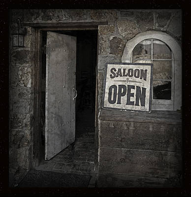 Photograph - Saloon Open Poster by John Stephens