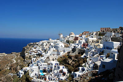 Photograph - Santorini Island by Harvey Barrison