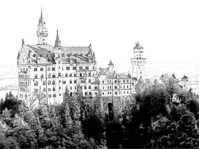 Schloss Neuschwanstein Germany Art Print by Joseph Hendrix