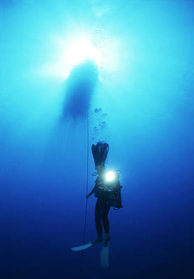 Self Shot Photograph - Scuba Diver by Alexis Rosenfeld