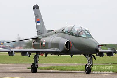 Edward Hopper - Serbian Air Force Soko G-4 Super Galeb by Anton Balakchiev