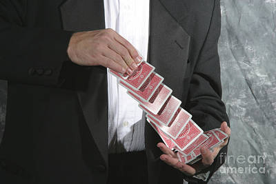 Photograph - Shuffling Cards by Ted Kinsman