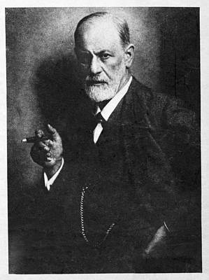Psychology Photograph - Sigmund Freud, Austrian Psychologist by Humanities & Social Sciences Librarynew York Public Library