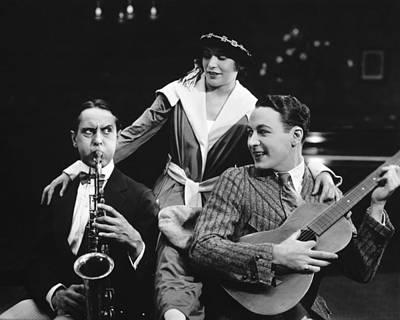 Saxophone Photograph - Silent Film Still: Music by Granger