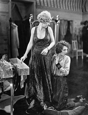 Silent Film Still: Sewing Art Print by Granger