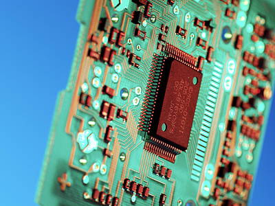 Processor Photograph - Silicon Chip by Tek Image