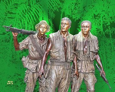 Digital Art - 3 Soldiers by Richard Stevens