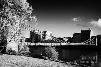 south portland street suspension bridge over the river clyde Glasgow Scotland UK Art Print by Joe Fox