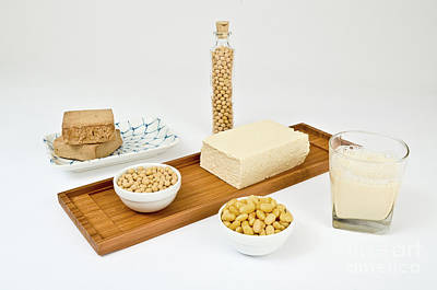 Soy Products Art Print by Photo Researchers