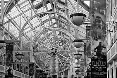 Black Commerce Photograph - St. Stephens Green Shopping Centre by Semmick Photo