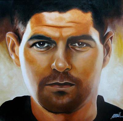 Steven Gerrard Painting Art Print by Ramil Roscom Guerra