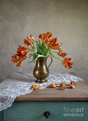 Royalty-Free and Rights-Managed Images - Still Life with Tulips by Nailia Schwarz