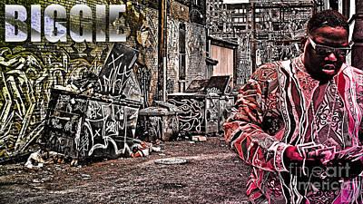 Lil Kim Digital Art - Street Phenomenon Biggie by The DigArtisT