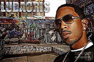 Rnb Digital Art - Street Phenomenon Ludacris by The DigArtisT
