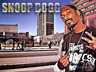 Slim Shady Digital Art - Street Phenomenon Snoop Dogg by The DigArtisT