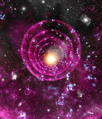 Supernova Explosion, Artwork Art Print