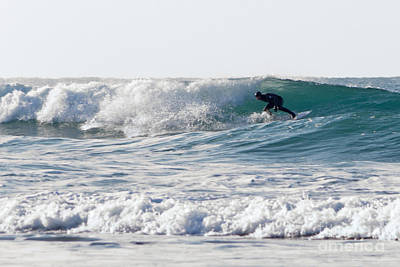 Photograph - Surfers At Porthtowan Cornwall by Brian Roscorla