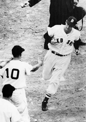 Baseball Uniform Photograph - Ted Williams Of The Boston Red Sox by Everett