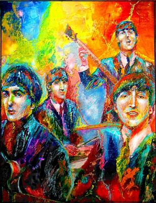 The Beatles Art Print by Leland Castro
