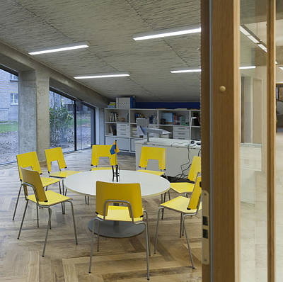 The Dining Area Of The New Buildings Print by Jaak Nilson