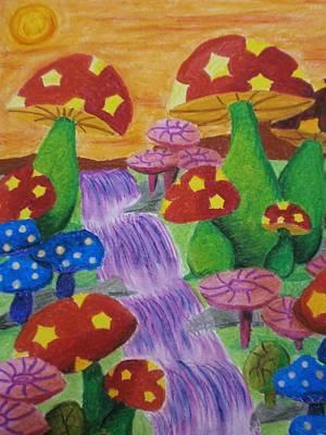 The Enchanted Mushroom Forest Art Print by Adam Wai Hou