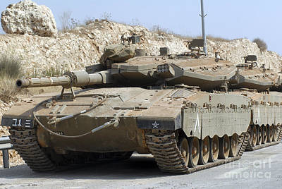 The Main Photograph - The Merkava IIi-d Main Battle Tank by Andrew Chittock