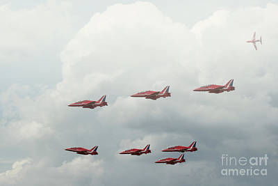 Photograph - The Red Arrows by Lee-Anne Rafferty-Evans