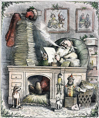 Thomas Nast: Santa Claus Art Print by Granger