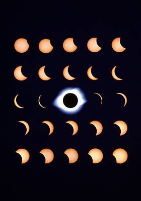 Timelapse Image Of A Total Solar Eclipse Art Print by Dr Fred Espenak