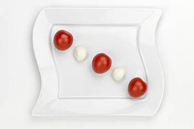 Lettuce Photograph - Tomato Mozzarella by Joana Kruse