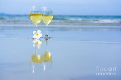 Sean Rights Managed Images - Two glasses of white wine Royalty-Free Image by MotHaiBaPhoto Prints