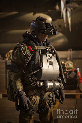 Photograph - U.s. Navy Seal Equipped With Night by Tom Weber