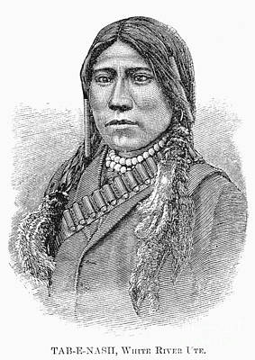 White River Photograph - Ute Chief, 1879 by Granger