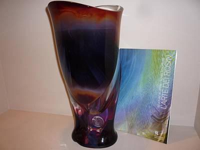 Vase Murano Glass Venice Master Rosin Dino Original
