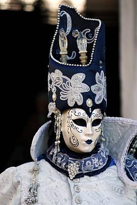 Venezia Photograph - Venice Carnival by Cedric Darrigrand
