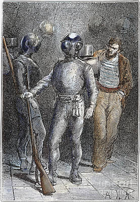 Verne: 20,000 Leagues, 1870 Art Print