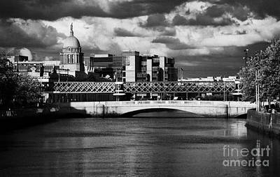 View Of The River Liffey In Dublin City Centre Republic Of Ireland Art Print by Joe Fox