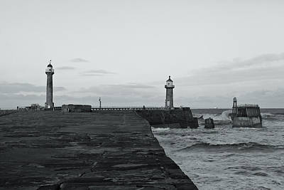 Whitby Harbour Art Print by Gary Finnigan
