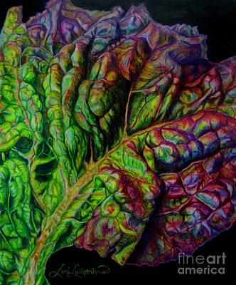 Lettuce Drawing - Wilting Beauty by Lori Lutkenhaus