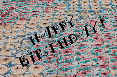 World Of Umbrellas Art Print by Trish Tritz