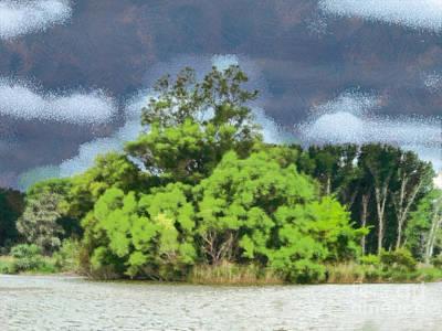 Czintos Painting - Landscape by Odon Czintos