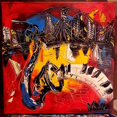 Confederate Monument Painting - Jazz by Mark Kazav